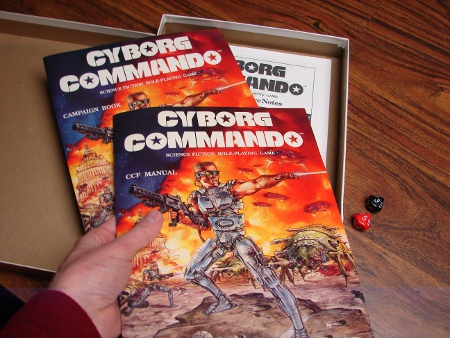 Inside the Cyborg Commando boxed set.
