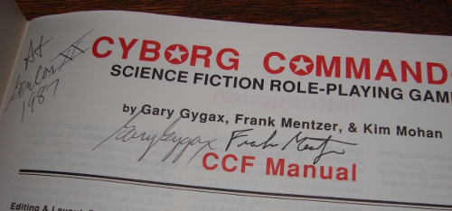 Signed Cyborg Commando rulebook